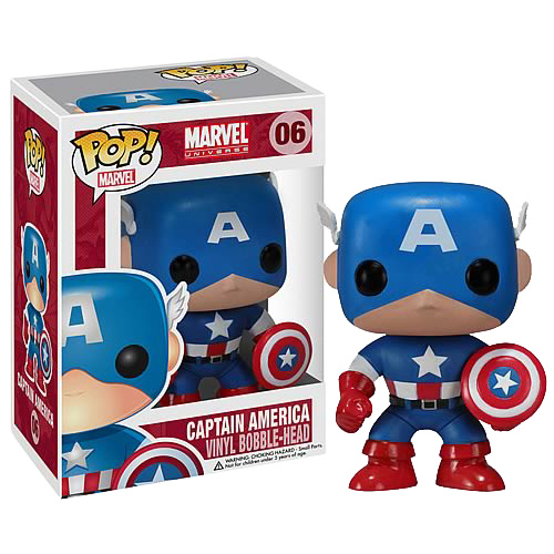 Captain America - Pop! Vinyl Bobble Figure